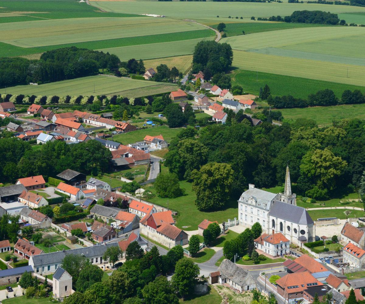 Vue aérienne d'Habarcq